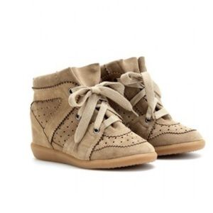 ISABEL MARANT bobby suede wedge sneakers size 39